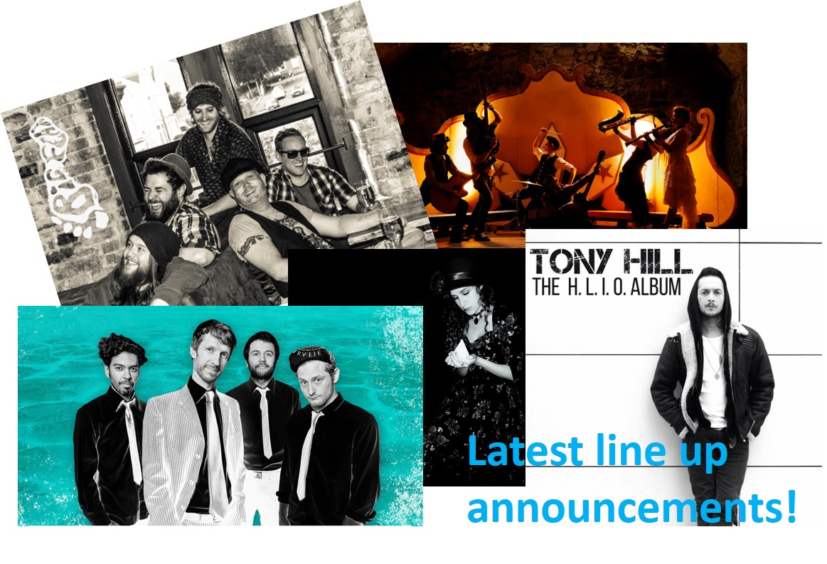 Latest line-up announcements for acoustic, jazz/swing, blues